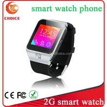 2G cheap touch screen mtk 6260 smart watch bluetooth phone