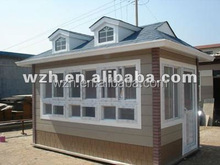 Low cost prefabricated house/shipping contain home hot sale in China for guard , living , kiosk