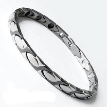 high power therapy magnets stainless steel silver xoxo jewelry Executive Duet Magnetic Therapy Bracelets