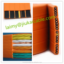 pvc jacket and construction application flat travelling elevator cable