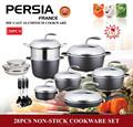 Vaisselle en porcelaine/28 pièces de coulée sous pression en aluminium extérieure cuisson,/marmite/allemande ustensiles de cuisine