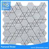 Football Pattern Polihsed Carrara Marble Tile Price