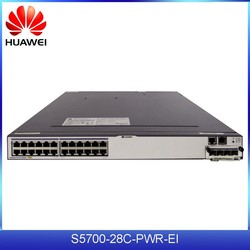 Low Cost HUAWEI S5700-28C-PWR-EI 24 ports Gigabit Ethernet switch with SFP uplink and PoE function