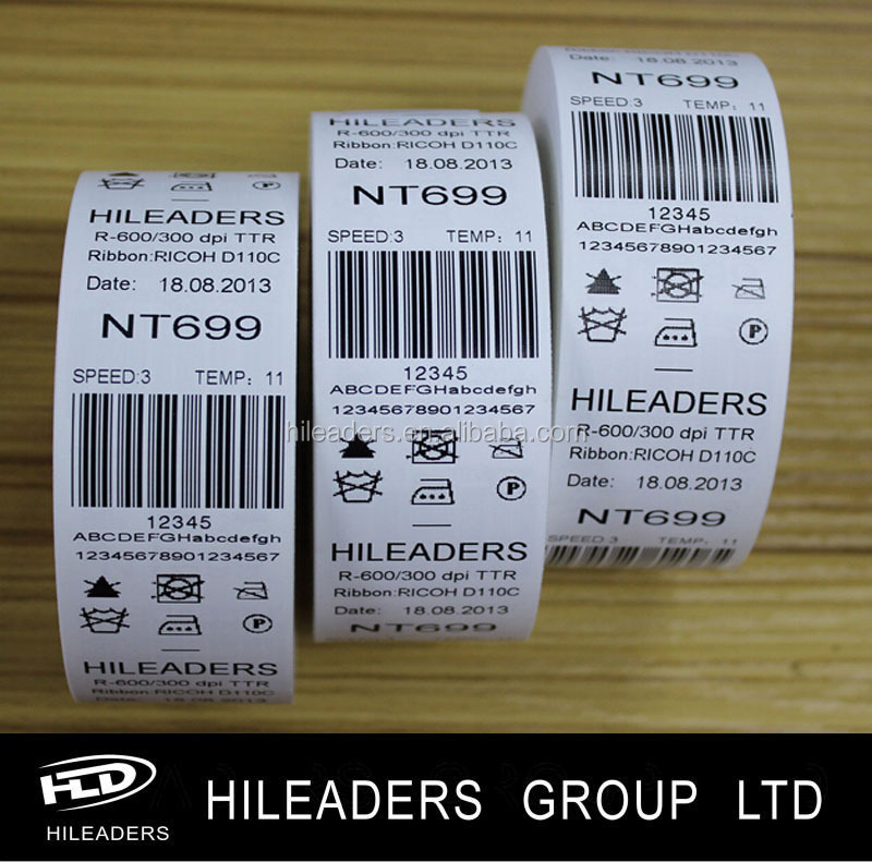 NF04 Print Used Care Label Ribbon