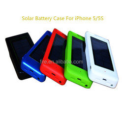 suitable iOS 8 Solar Battery Charger Case 3000mAh Solar battery case for iPhone 5/5s