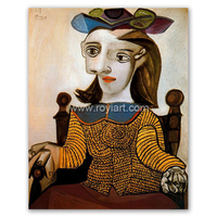 The yellow shirt Dora Maar reproduction art oil painting of Pablo Picasso
