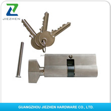 Chrome plating finishing length 40-120mm 6pins yale handle door mortise euro high security double safe mortise lock cylinder