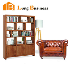 LB-AL5098 The lastest design wooden bookcase with cheap price