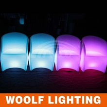 Waterproof Battery powered led plastic arm chairs for functions