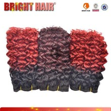 Fashion Style Ombre Synthetic Fiber Hair Weave For Africa Woman hair weaving