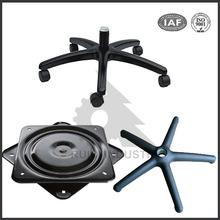 Dalian high quality OEM cast iron office swivel chair base parts