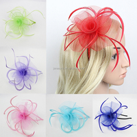 2015 New Coming Handmade Feather Fascinator Flower Hairband Designs