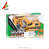 Children toy remote flash tracked construction vehicles rc car kit of excavator