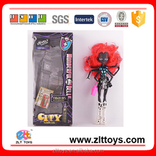 12 inch black monster ever after high articulated spider ghost doll