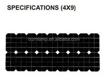 2015 12v 90W monocrystalline Silicon solar panel