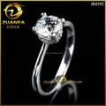nova 925 jóias de prata de zircão anel de design de moda do anel de casamento