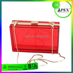 2013 fashion handbag, six candy color acrylic transparent gold clutches, famous brand evening bag/ clutch bag/ party bags