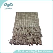 Retro style 100% acrylic plaid blankets