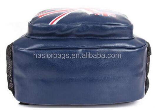 Pu cuir sac à dos pour l'école avec impression