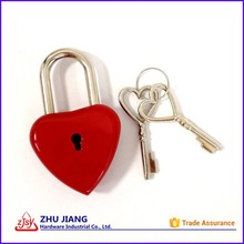 Bright Red Keyed Padlock