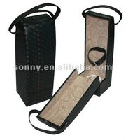 Leather wine gift bag wholesale