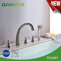 Classic dual lever upc bathtub faucet with hand shower