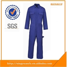 Custom mens polyester/cotton water and oil and gas workwear mechanic overall uniforms