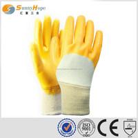 SUNNYHOPE yellow nitrile led work gloves