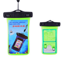 Top sale pvc waterproof cellphone bag for All 4.3-4.5inch screen phones for swimming boating fishing rafting diving PVC/TPU