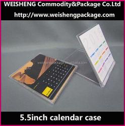 Best sales transparent plastic calendar case/acrylic desktop calendar stand