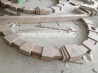 French style stone window frame by granite moulding machine