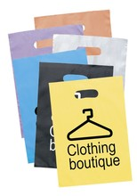Cheap Different Color Die Cut Punch Euro Tote Plastic Bag