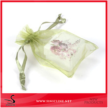 Sinicline 2015 crazy price wholesale custom pink cheap organza bags for gifts