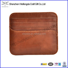 factory customized OEM name card holder business card holder PU leather manufacturer
