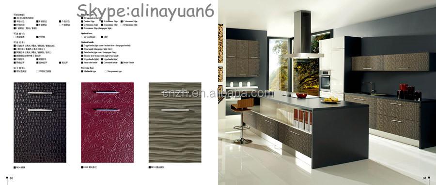 2014 New Design 3d Kitchen Cabinet Door Panels,Pvc Coated High ...