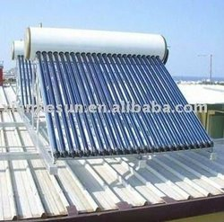 Widely used unpressurized solar water heater for India and China