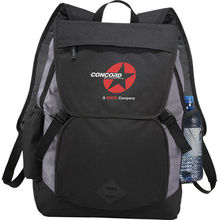 """Pike 17"""" laptop backpack. Holds up to 17"""" laptops and comes with your logo."""