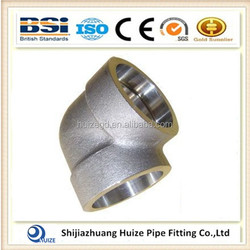astm b16.11 DN40 1 1/2 INCH C70600 90 degree socket weld forged pipe fittings elbow Class 9000 LB