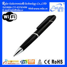 720P wearable portable hidden wireless wifi ball-point pen video recorder ip camera