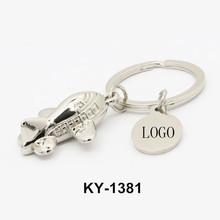 Wholesale custom logo printed popular design mini metal 3D airplane keychain wholesale