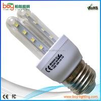 led light bulbs 3w, u shape corn light, 3 watt led corn lamp bulb energy saving light