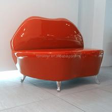 modern kiss mouth PU rosy lip sofa chair