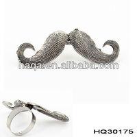 Stylish Funny Humor Cosplay alloy Moustache Handlebar Beard Ring Adjustable