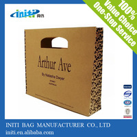 Best selling customized brown kraft paper die cut paper bag