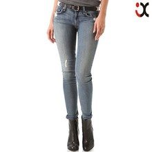 2015 classic five pockets sexy photo ladies tight slim tops jeansJXH069
