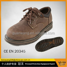 2015 new style Nubuck leather safety shoes, Goodyear welt safety shoes