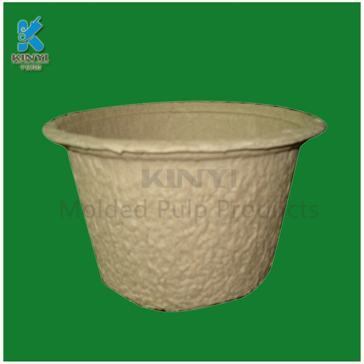 Waterproof recycled plant pulp flower seeding pots china for Recycled flower pots