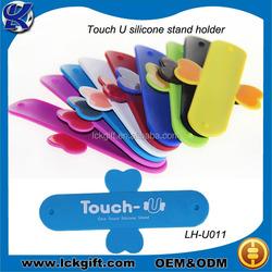 2015 hot sale slap holder silicone smart phone One touch U holder/desk phone accessory holder