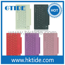 Gtide pink color leather case silicone keyboard bluetooth 3.0 for ipad air china top ten selling products