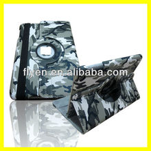Camouflage Rotating PU leather case for ipad mini Smart Cover wholesale Cheap Lot Tablet Leather Cases Covers Military Army #2